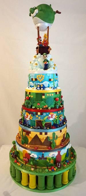 Super Mario World Weding Cake - Cake by Kuchenkiste