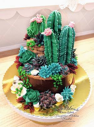 Passion for Cactus - Cake by Aniko Vargane Orban