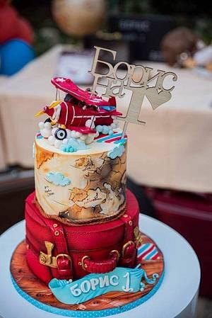 Airplane travel cake - Cake by Tanya Shengarova