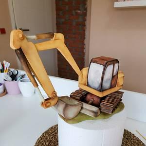 Rusty excavator - Cake by Torta Od Snova