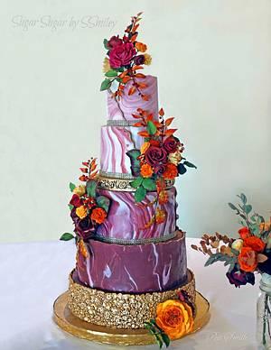 Wedding Cake for Brent & Liz - Cake by Sandra Smiley
