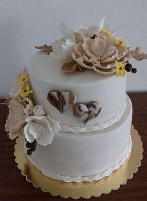 Wedding cake  - Cake by Ellyys
