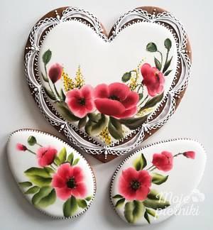 Red poppies - Cake by Ewa Kiszowara