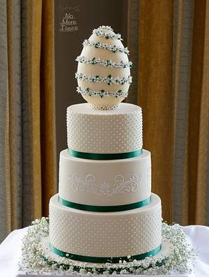 Easter Egg wedding cake - Cake by Cakes By No More Tiers (Fiona Brook)