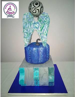 Caker buddies metallic theme collaboration -metal structure - Cake by Snigdha srimal