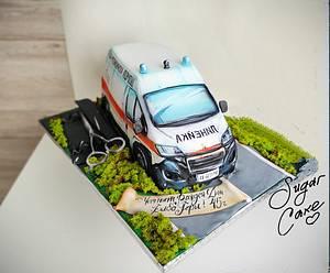 Ambulance service - Cake by Tanya Shengarova