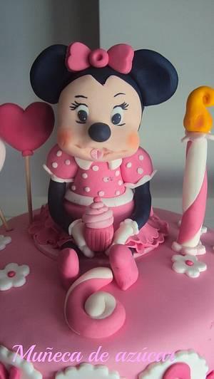 tarta minnie 2 - Cake by silvia Valdearenas