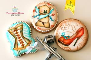 Airbrush Cookies - Cake by Marielly Parra