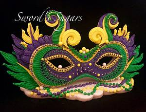 Mardi Gras Carnival Cakers Collaboration - Cake by Sword's Sugars