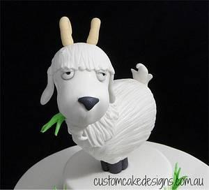 Cartoon Billy Goat Cake - Cake by Custom Cake Designs