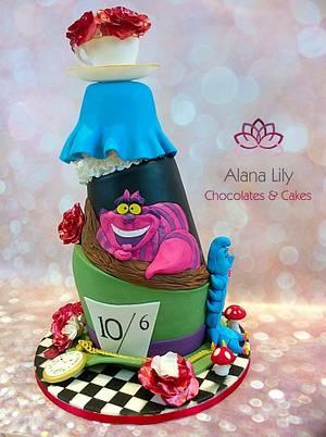 Alice in Wonderland Wedding Cake - Cake by Alana Lily Chocolates & Cakes