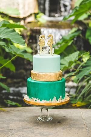 Seahorse Wedding - Cake by Heather Nicole Chitty