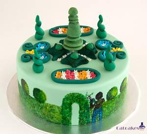 Garden cake - Cake by Catcakes