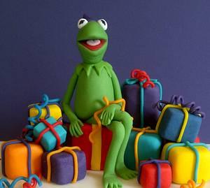 Kermit - Cake by CakeyCake