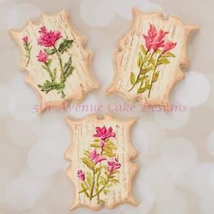 Vintage Dimensional Wildflower Cookies - Cake by Bobbie