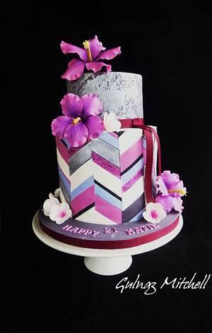 """Chevron cake """"Katie"""" - Cake by Gulnaz Mitchell"""