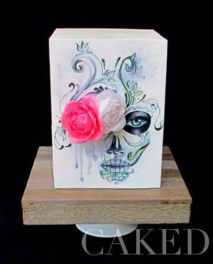 Belleza Mortal - Sugar Skull Bakers 2015 - Cake by CAKED By Cynthia White