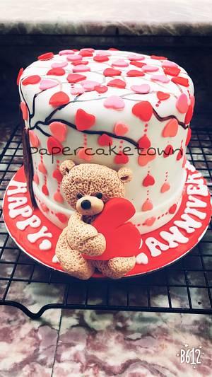 Anniversary cake  - Cake by sheenam gupta