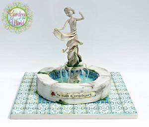 'My Heart Aches for You' - Spanish Garden Cake - Cake by Baked4U
