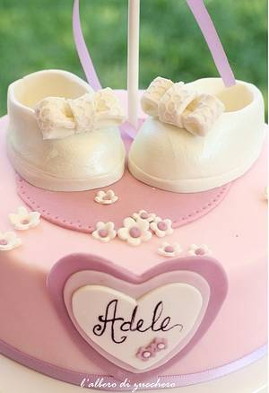 Adele's Christening  - Cake by L'albero di zucchero