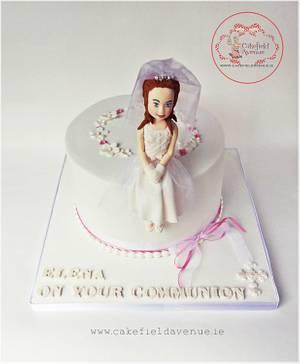 ELENA's COMMUNION CAKE - Cake by Agatha Rogowska ( Cakefield Avenue)