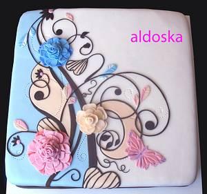 Flower ornament - Cake by Alena