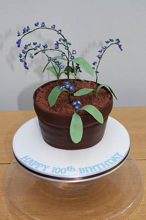Forget-me-nots - Cake by DolceLusso