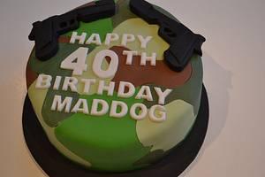 40th Birthday Cake - Cake by Rachel Nickson