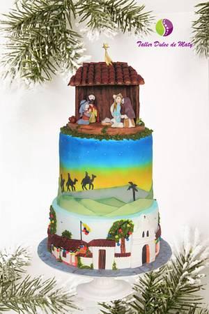 Christmas Nativity - Cake by Maty Sweet's Designs