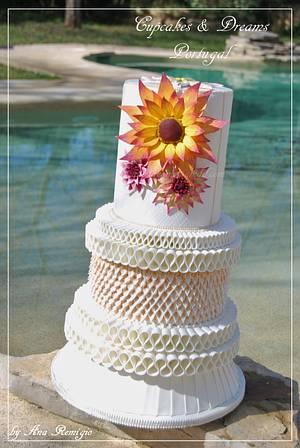 DUBLIN WEDDING CAKE - IRISH SUGARCRAFT SHOW COMPETITION 2016 - Cake by Ana Remígio - CUPCAKES & DREAMS Portugal