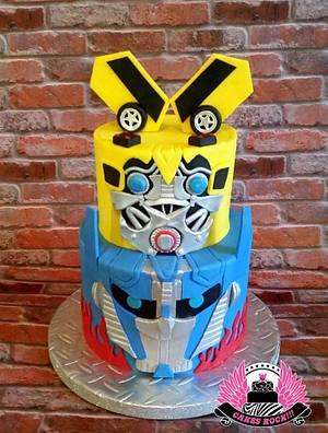 Transformers Bumblebee & Optimus Prime Cake - Cake by Cakes ROCK!!!