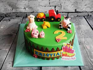 Farm animal cake - Cake by Liliana Vega