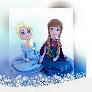 Topper Elsa and Anna - Cake by Pelegrina