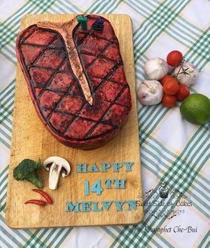 T-Bone Steak for Melvyn - Cake by Sweet Side of Cakes by Khamphet