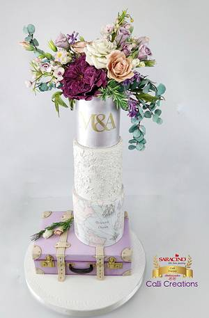 Travel Wedding Cake - Cake by Calli Creations