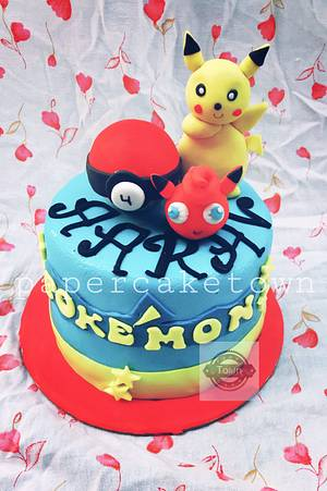 pokemon cake  - Cake by sheenam gupta