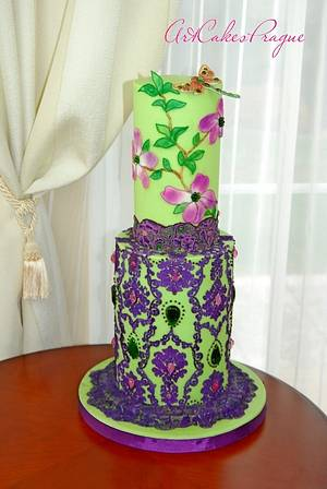 Botanical Garden Cake. Dragonfly - Cake by Art Cakes Prague