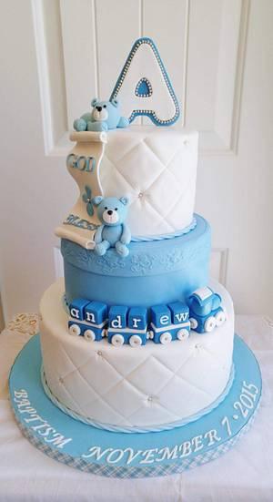Teddy Bears &  Train - Cake by Enza - Sweet-E