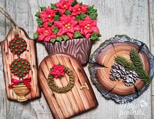 Wooden gingerbreads - Cake by Ewa Kiszowara