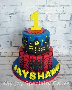 Spider Man 1st Birthday - Cake by Kimberley Jemmott