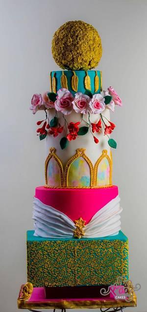 Destination Spring wedding - Cake by Chocolat_story
