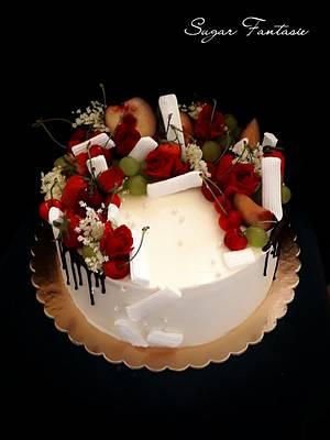 Romantic drip cake - Cake by Ildikó Dudek