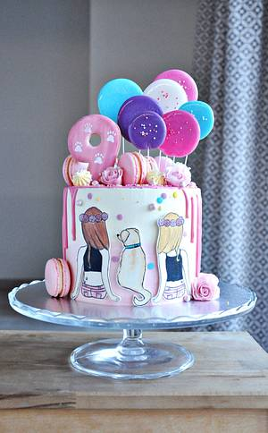 Sisters cake - Cake by rincondulcebysusana