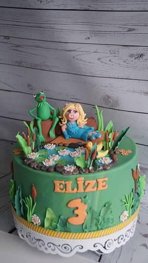 Muppet cake- Kermit and Miss Piggy - Cake by Cake Garden