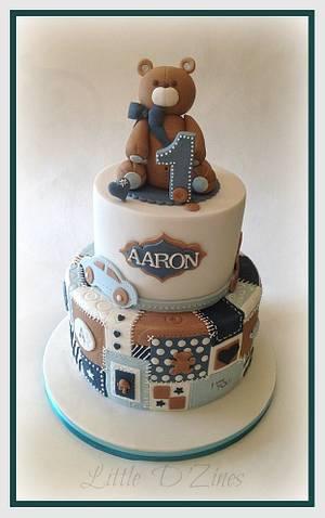 Baby Boy Patchwork Cake  - Cake by LittleDzines