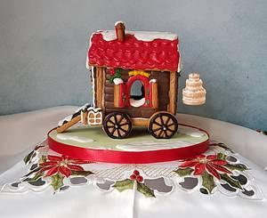 Gingerbread Christmas Gipsy Caravan. - Cake by Pluympjescake