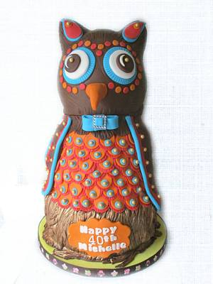 Owl - Cake by Deb-beesdelights