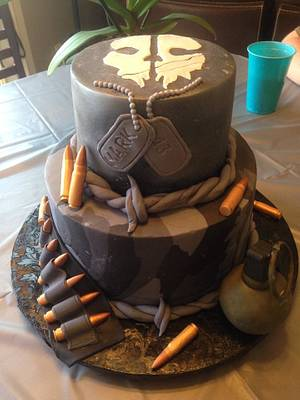 Call of Duty: Ghosts - Cake by Sweet Owl Custom Cakes
