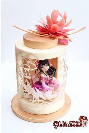 莲 Lian - modeling chocolate - Cake by ChokoLate