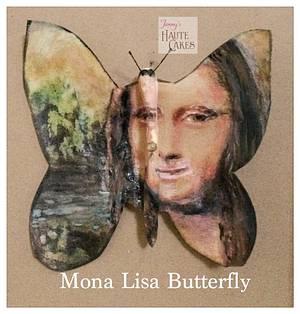 Mona Lisa Butterfly - Cake by Jenny Kennedy Jenny's Haute Cakes